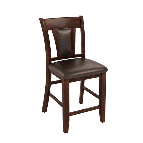 Ceina Flared Counter Height Chair Espresso Leatherette (Set of 2) Furniture Enitial Lab