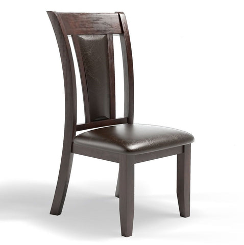 Ceina Flared Dining Chair Espresso Leatherette (Set of 2)