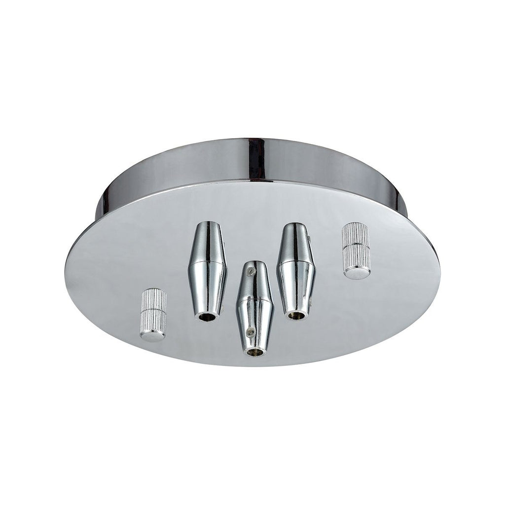 Illuminaire Accessories 3 Light Small Round Canopy In Polished Chrome Parts/Hardware Elk Lighting