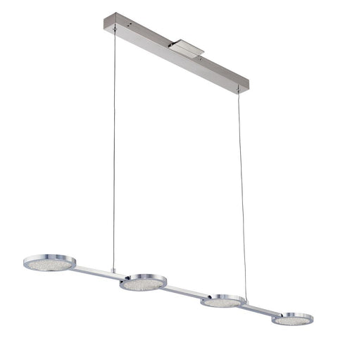 "Ariella 49""w LED 4-Light Lineanr Pendant Ceiling PLC Lighting"