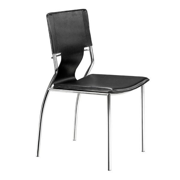 Trafico Dining Chair Black (Set of 4) Furniture Zuo