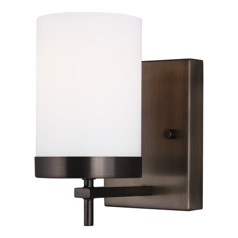 Zire One Light Wall Sconce Sconce - Brushed Oil Rubbed Bronze