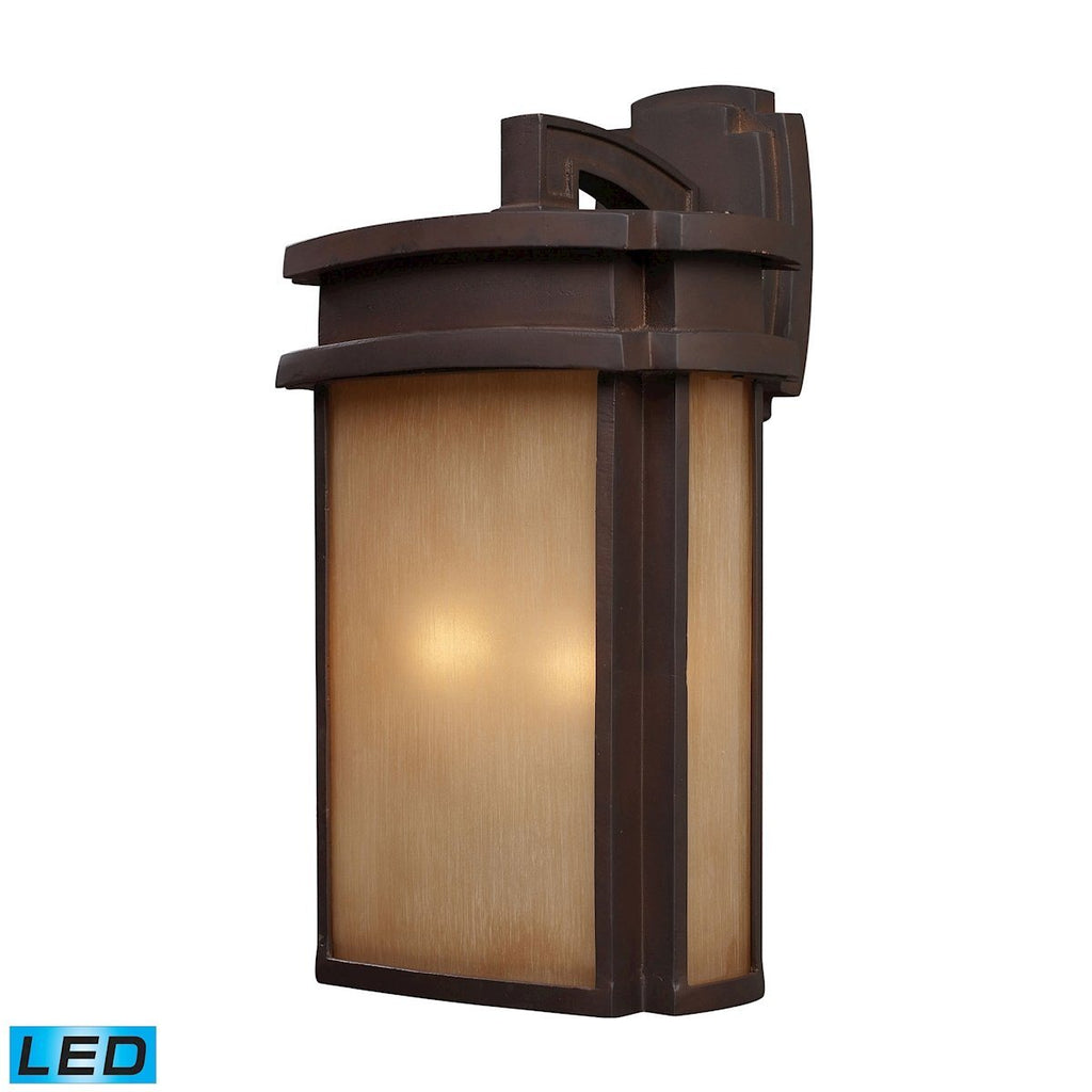 Sedona 2 Light Outdoor LED Wall Sconce In Clay Bronze Outdoor Wall Elk Lighting