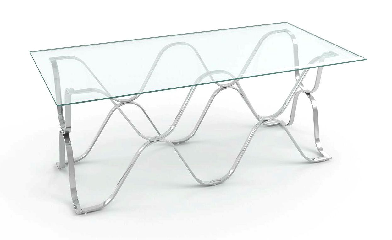 Westire Glass Top Coffee Table Chrome Furniture Enitial Lab