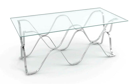 Westire Glass Top Coffee Table Chrome