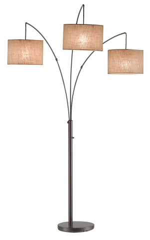 Trinity Arc Lamp - Antique Bronze Lamps Adesso