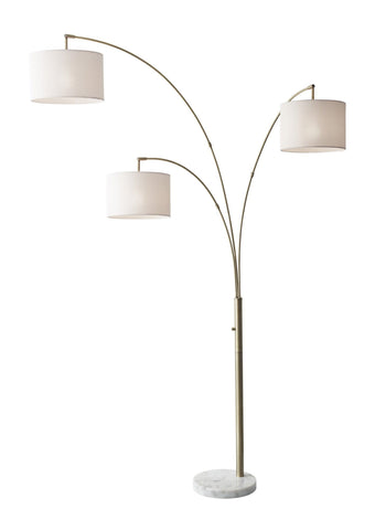 Bowery 3 Arm Arc Lamp Lamps Adesso