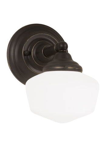 Academy One Light Wall Sconce - Heirloom Bronze