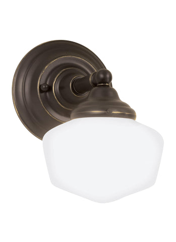 Academy One Light Wall Sconce Sconce - Heirloom Bronze