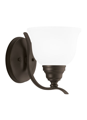 Wheaton One Light Wall Sconce - Heirloom Bronze
