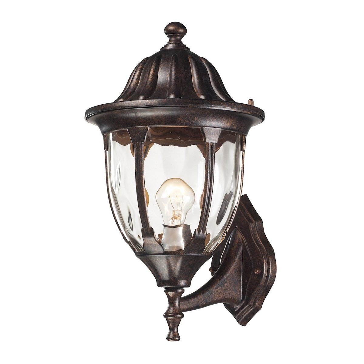 Glendale 1 Light Outdoor Wall Sconce In Regal Bronze Outdoor Wall Elk Lighting