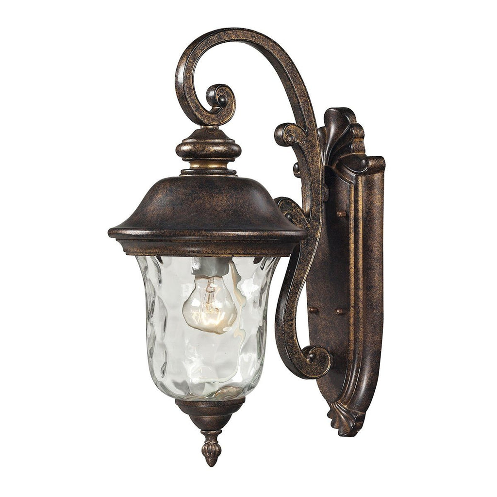 Lafayette 1 Light Outdoor Wall Sconce In Regal Bronze Outdoor Wall Elk Lighting