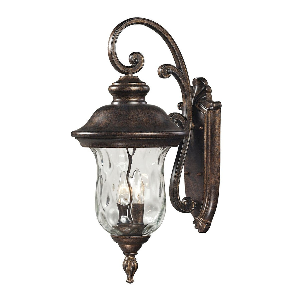 Lafayette 2 Light Outdoor Wall Sconce In Regal Bronze Outdoor Wall Elk Lighting