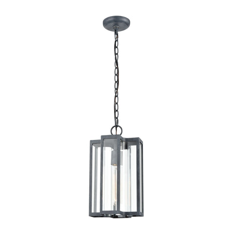 "Bianca 14""h Outdoor Hanging Light in Aged Zinc Outdoor Elk Lighting Default Value"