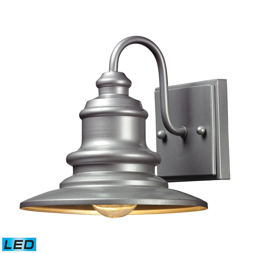 Marina 1 Light Outdoor LED Sconce In Matte Silver Outdoor Wall Elk Lighting