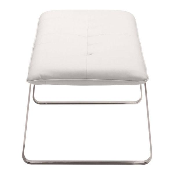 Cartierville Bench White Furniture Zuo