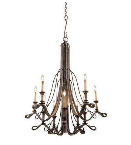 Keller 10 Light Chandelier Ceiling Kalco