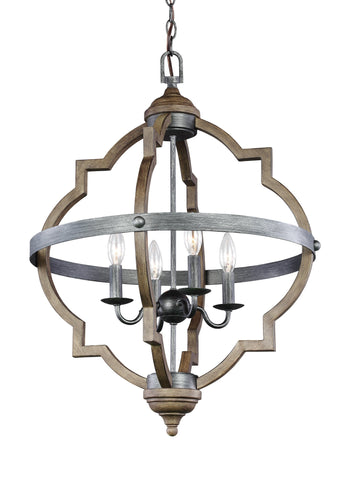 Socorro Four Light Hall / Foyer - Stardust / Cerused Oak