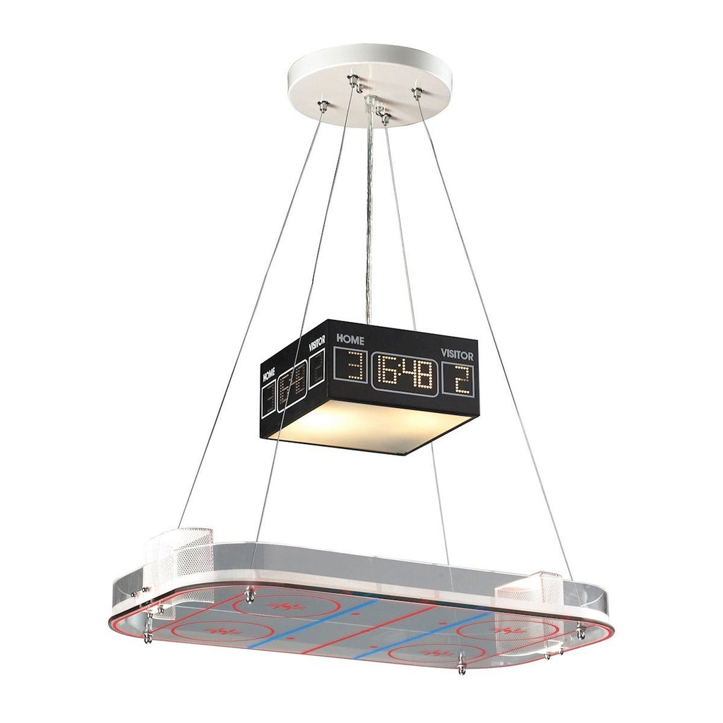 Novelty 2 Light Hockey Pendant Ceiling Elk Lighting