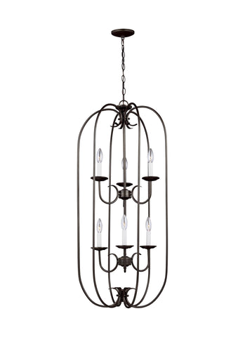 Holman Six Light LED Hall / Foyer - Heirloom Bronze Pendants Sea Gull Lighting