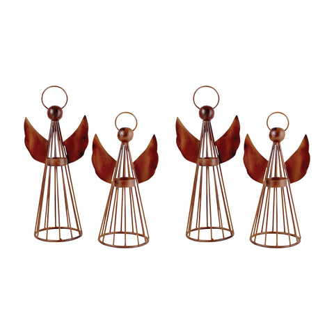 Holiday Set Of 4 Angel Lighting: 2 Sm-2Lg Accessories Pomeroy