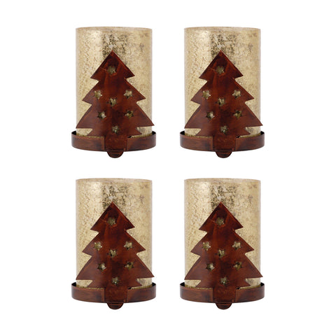 Tree Set of 4 Votives Accessories Pomeroy