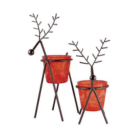 Reindeer Set Of 2 Large Lighting Accessories Pomeroy