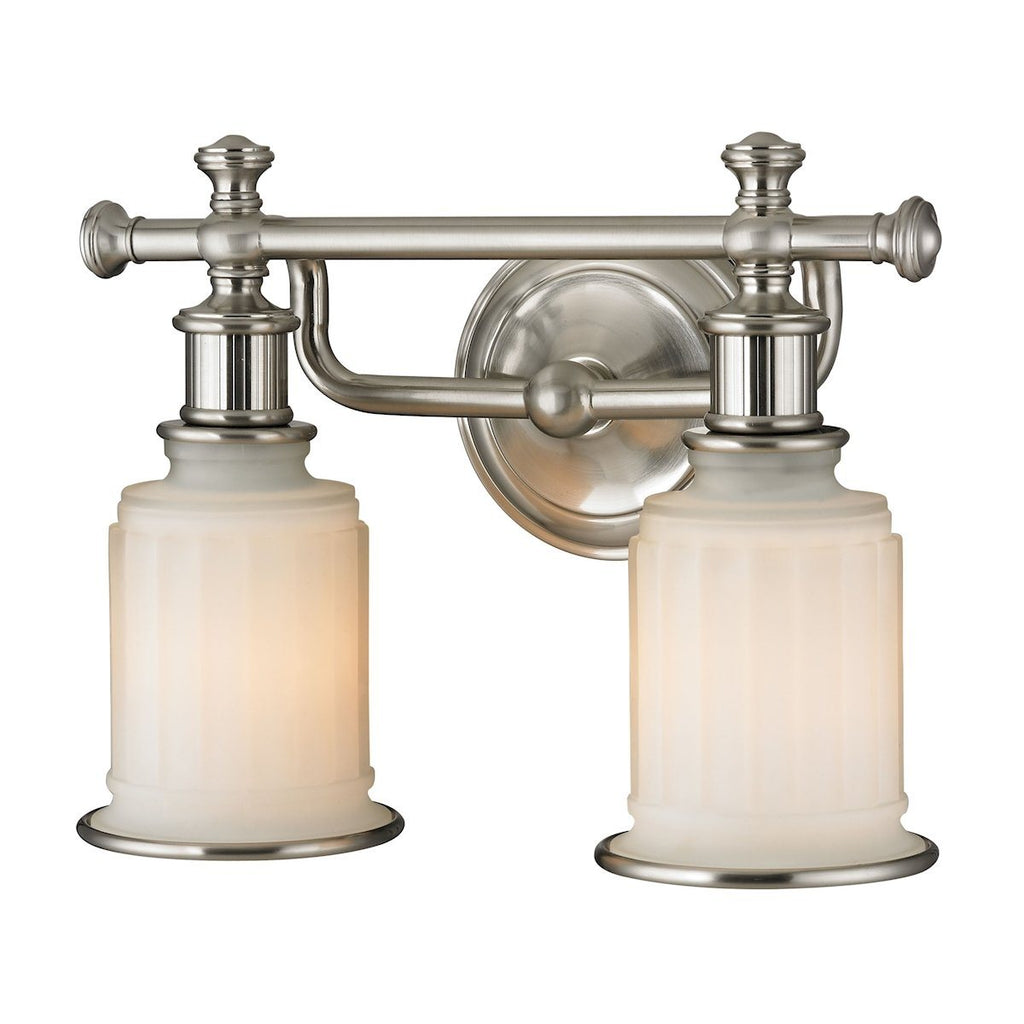 Acadia 2 Light Vanity In Brushed Nickel Wall Elk Lighting