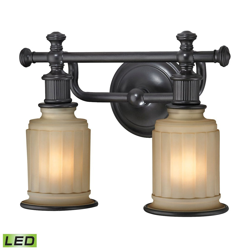 Acadia 2 Light LED Vanity In Oil Rubbed Bronze Wall Elk Lighting