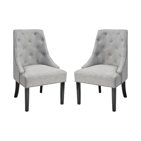 Nine Elms Accent Chair - Light Grey