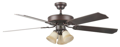 "52"" Heritage Home Ceiling Fan W/Light Kit - Oil Rubbed Bronze"