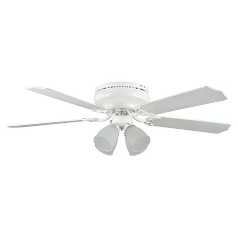 "52"" MONTEGO BAY DELUXE Ceiling Fan W/ 4Light Kit - White"
