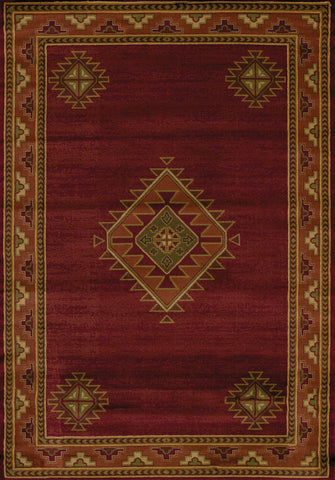 "Genesis Laramie Burgundy Accent Rug (5 Sizes) Rugs United Weavers 1'10"" x 3' Mat"