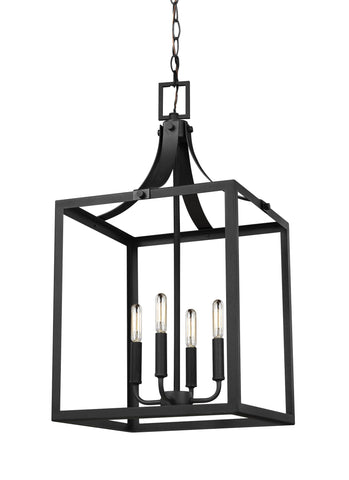 Labette Large Four Light Hall / Foyer - Black