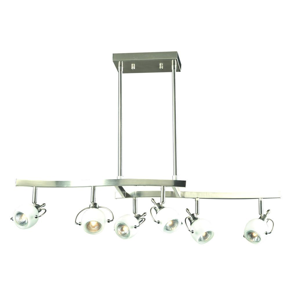 "Focus Collection 32""w 6-Light Track Pendant Wall PLC Lighting"
