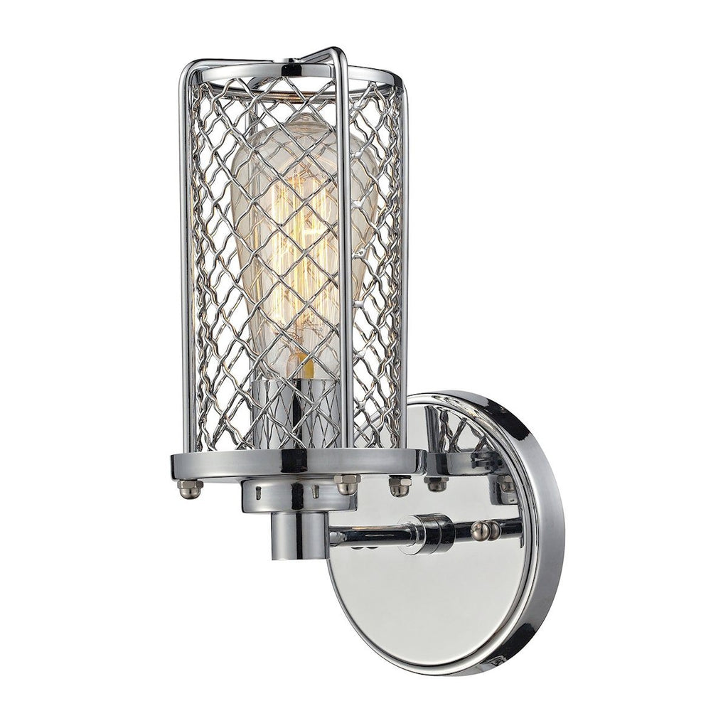 Brisbane 1 Light Wall Sconce In Polished Chrome Wall Sconce Elk Lighting