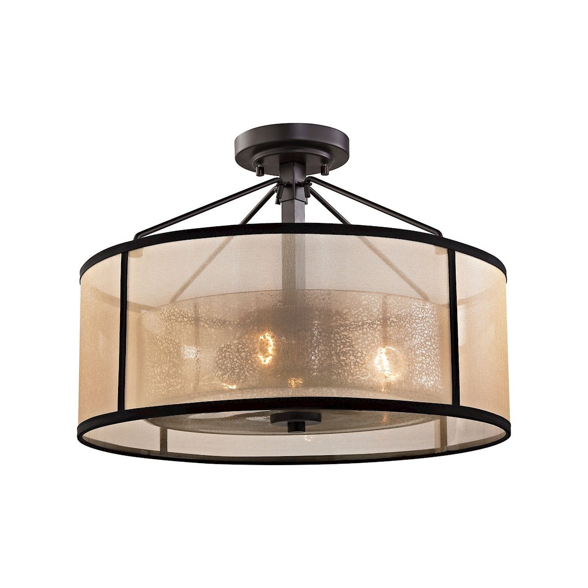 Diffusion 3 Light Semi Flush In Oil Rubbed Bronze Semi Flushmount Elk Lighting