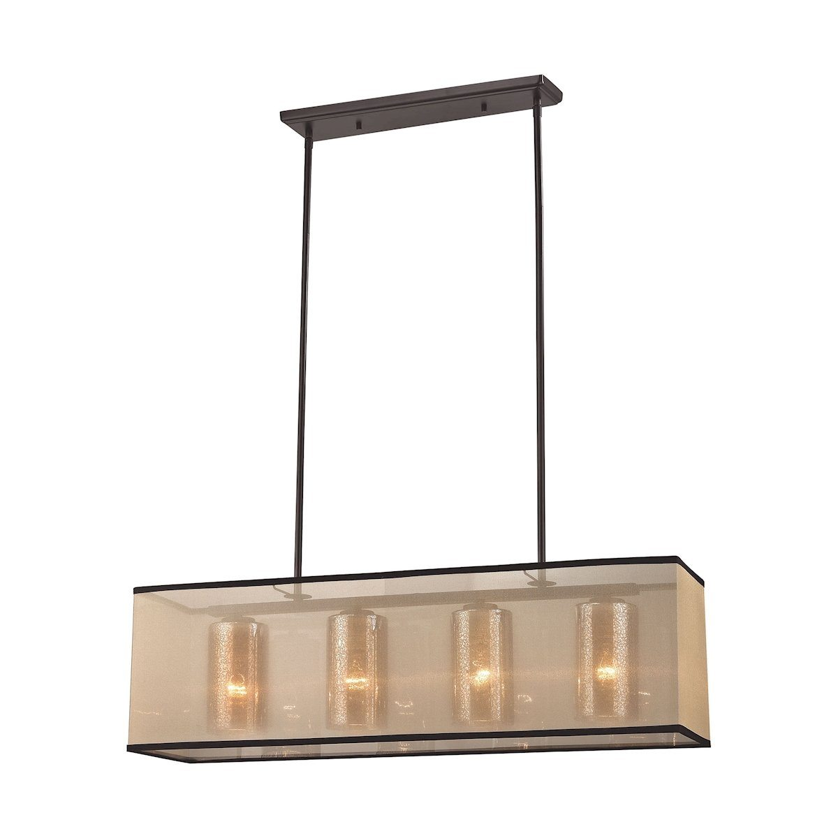 "Diffusion 34""w 4 Light Chandelier In Oil Rubbed Bronze Ceiling Elk Lighting Default Value"