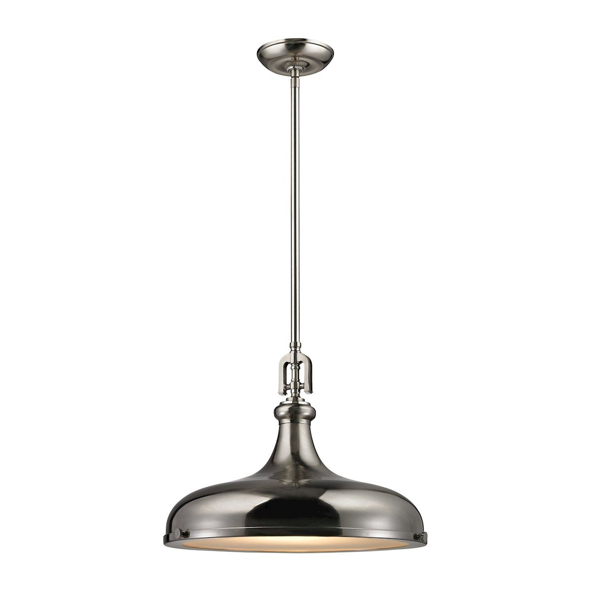 Rutherford 1 Light Pendant In Brushed Nickel Ceiling Elk Lighting