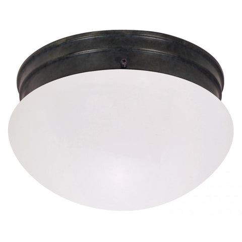 "10"" Mushroom Mahogany Bronze Frosted Glass Incandescent Ceiling Nuvo Lighting Frosted"