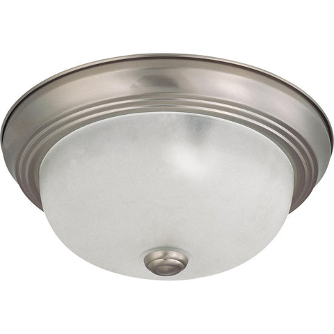 "2 Light 11"" Flush Mount with Frosted White Glass Ceiling Nuvo Lighting"