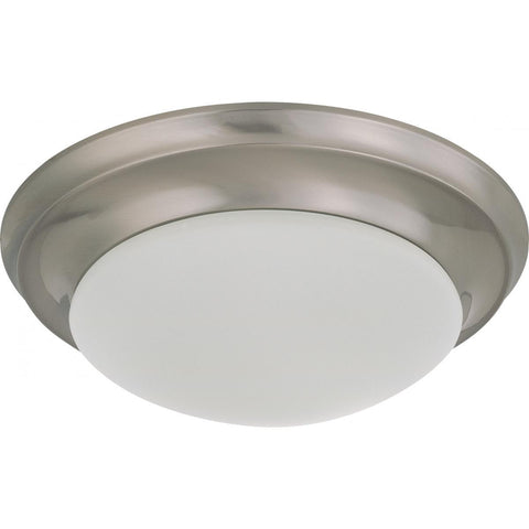 "12"" Flush Mount Twist & Lock with Frosted White Glass Ceiling Nuvo Lighting"