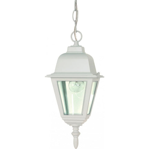 "Nuvo Lighting Briton 1 Light 10"" Hanging Lantern with Clear Glass 60/487"