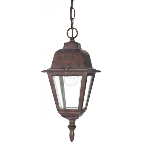 "Nuvo Lighting Briton 1 Light 10"" Hanging Lantern with Clear Glass 60/488"