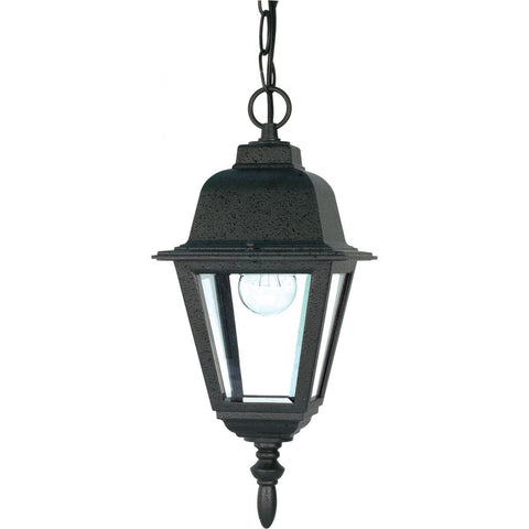 "Nuvo Lighting Briton 1 Light 10"" Hanging Lantern with Clear Glass 60/489"