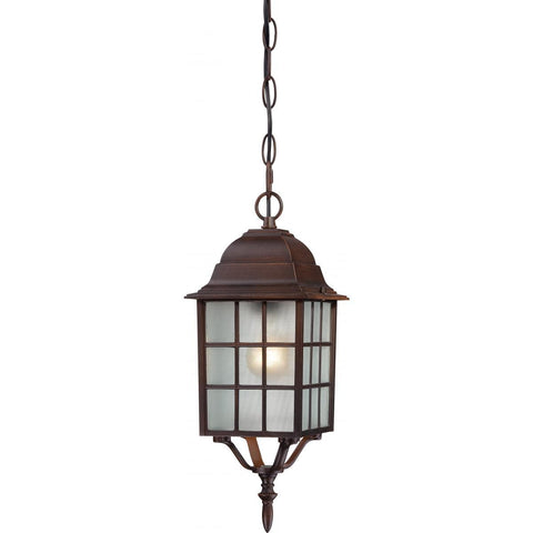 "Nuvo Lighting Adams 1 Light 16"" Outdoor Hanging with Frosted Glass 60/4912"