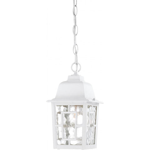 "Nuvo Lighting Banyan 1 Light 11"" Outdoor Hanging with Clear Water Glass 60/4931"