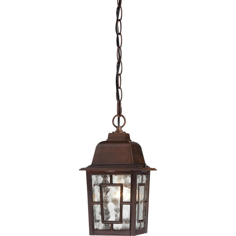 "Nuvo Lighting Banyan 1 Light 11"" Outdoor Hanging with Clear Water Glass 60/4932"