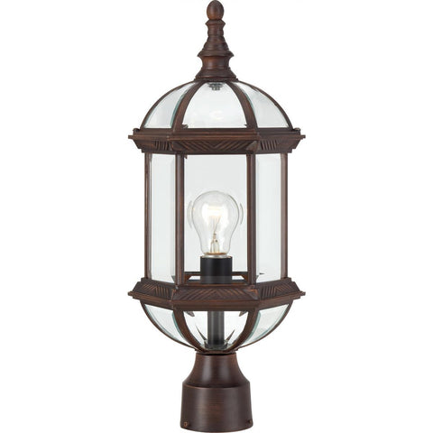"Boxwood 19"" Outdoor Post with Clear Beveled Glass Outdoor Nuvo Lighting"