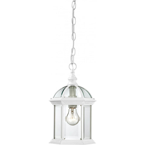 "Nuvo Lighting Boxwood 1 Light 14"" Outdoor Hanging with Clear Beveled Glass 60/4977"